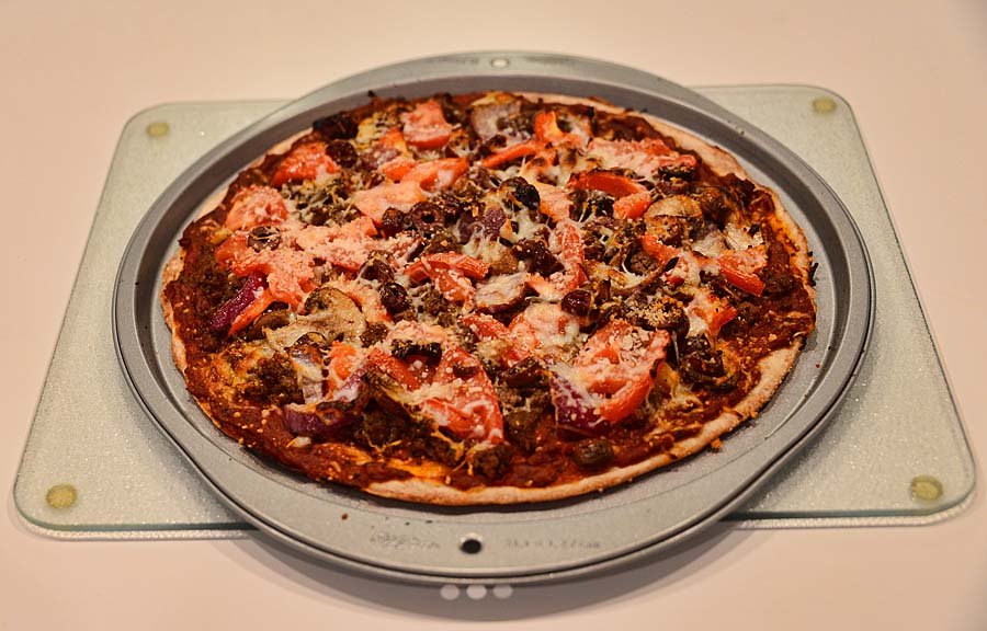 Post image for One More Frigging Week of Winter and my First Homemade Pizza – Crust & Sauce – Grade: C–