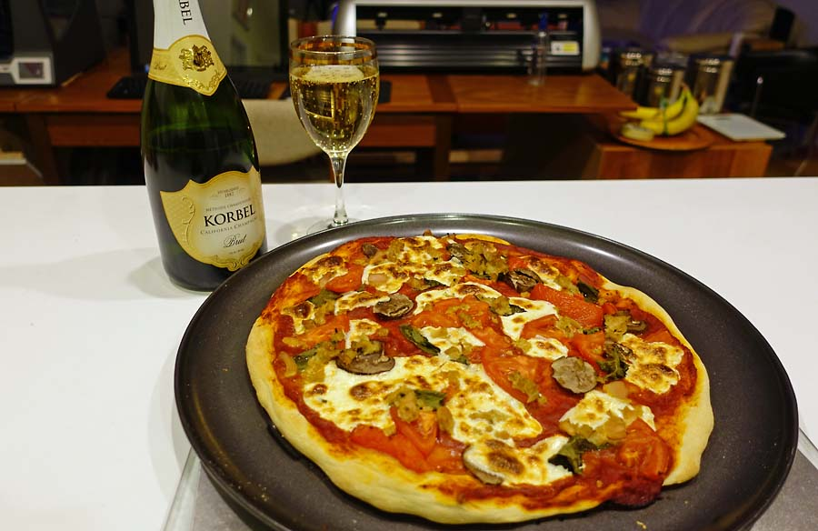 Post image for Pizza & Champagne to end 2017